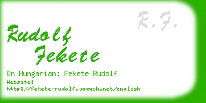 rudolf fekete business card